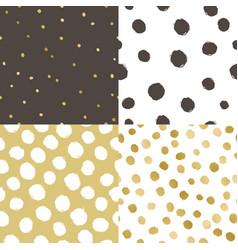 Set of four paint texture background vector