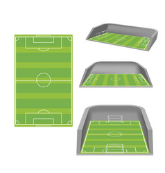 soccer field white isolate stadium vector image vector image