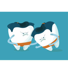 Sumo of chipped a tooth vector image vector image