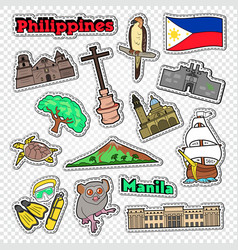 travel to philippines stickers badges vector image vector image
