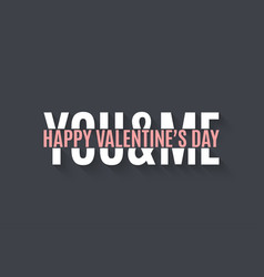 valentines day banner design lettering background vector image vector image