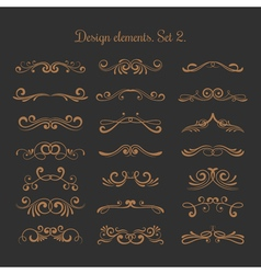 Flourish embellishments flourishes filigree vector