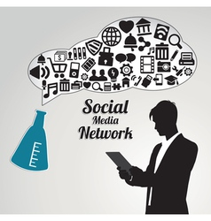 Abstract concept of social media networwork vector