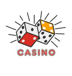 Casino poker gambling dice lucky combination vector