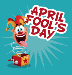 April fools day celebration vector
