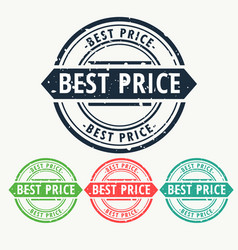 Best price rubber stamp sign set vector