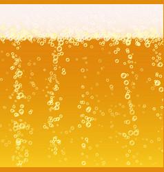 Beer foam background realistic beer texture vector