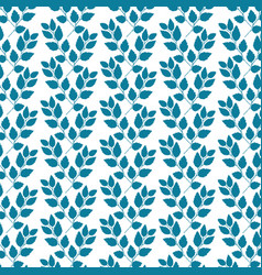 Turquoise twig pattern vector