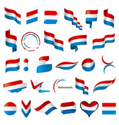 Biggest collection of flags of netherlands vector