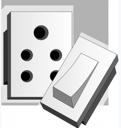 Wall switch vector