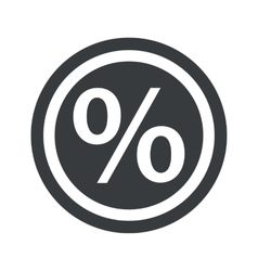 Round black percent sign vector