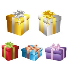 Set of gift boxes 2 vector