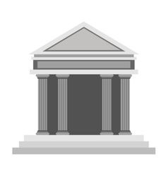 Ancient greek building icon vector
