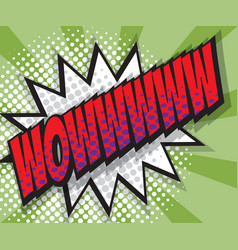 Abstract wow pop art comic book background vector