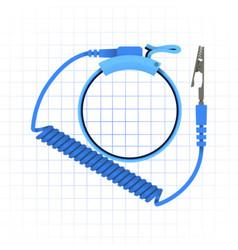 Antistatic wrist strap vector