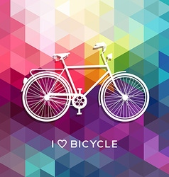 Bike concept poster bicycle love color background vector