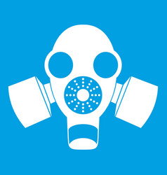 Black gas mask icon white vector