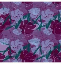 Bright wallpaper seamless vintage flower pattern vector image