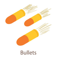 bullets icon isometric 3d style vector image vector image
