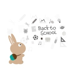 Bunny back to school vector image vector image