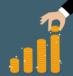 Business Hand Holding Coin vector image
