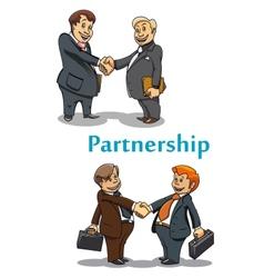 Businessman handshake and partnership vector image vector image