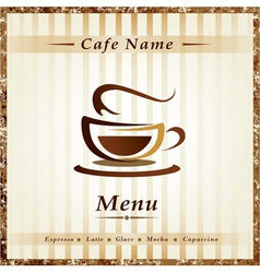 cafe menu vector image