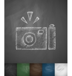 Camera icon hand drawn vector