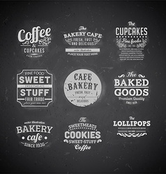 Chalk board restaurant set vector