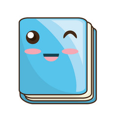 cute book cartoon vector image