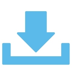 Download flat blue color icon vector