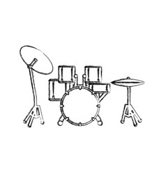 drum plate music instrument vector image