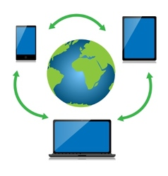 Internet technology vector image