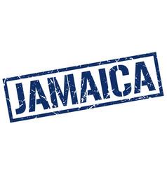 Jamaica blue square stamp vector