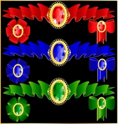 jewelry and ribbons vector image vector image