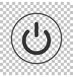 On off switch sign dark gray icon on transparent vector