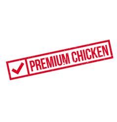 Premium chicken rubber stamp vector