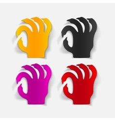Realistic design element hand vector