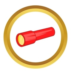 Red flashlight icon vector