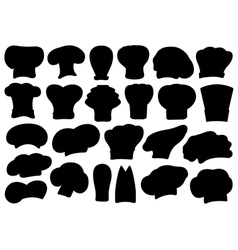 Set of different chef hats vector image