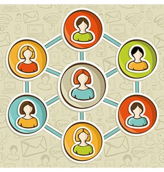 Social networks online marketing interaction vector