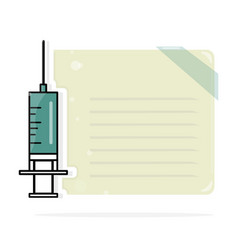 syringe medical layout template modern vector image vector image