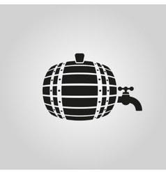 The barrel icon cask and keg beer symbol ui vector