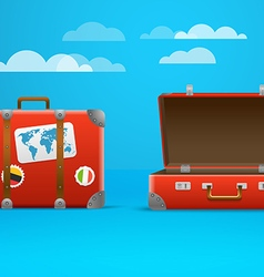 Travel bag Vacation design template vector image vector image