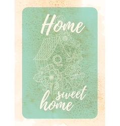 Vintage template design for greeting card vector image
