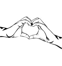 hands making heart gesture image vector image