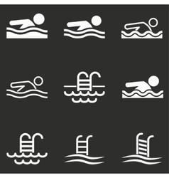 Pool icon set vector image