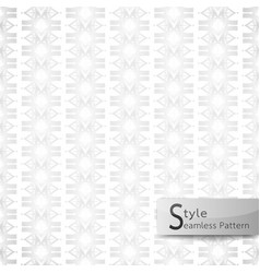 abstract seamless pattern floral row ribbon white vector image