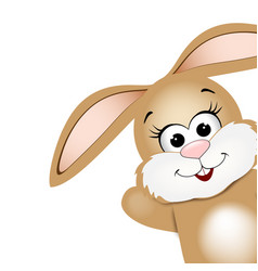 easter card design template funny easter bunny vector image