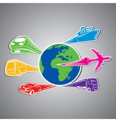 world transport vector image